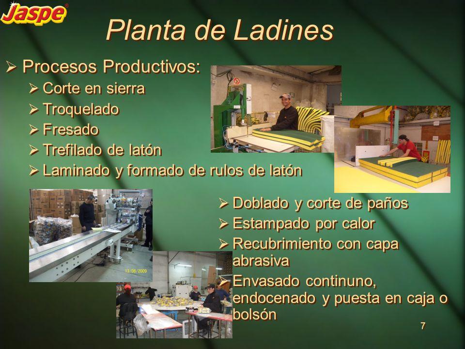 Planta de Ladines Procesos Productivos: Corte en sierra Troquelado