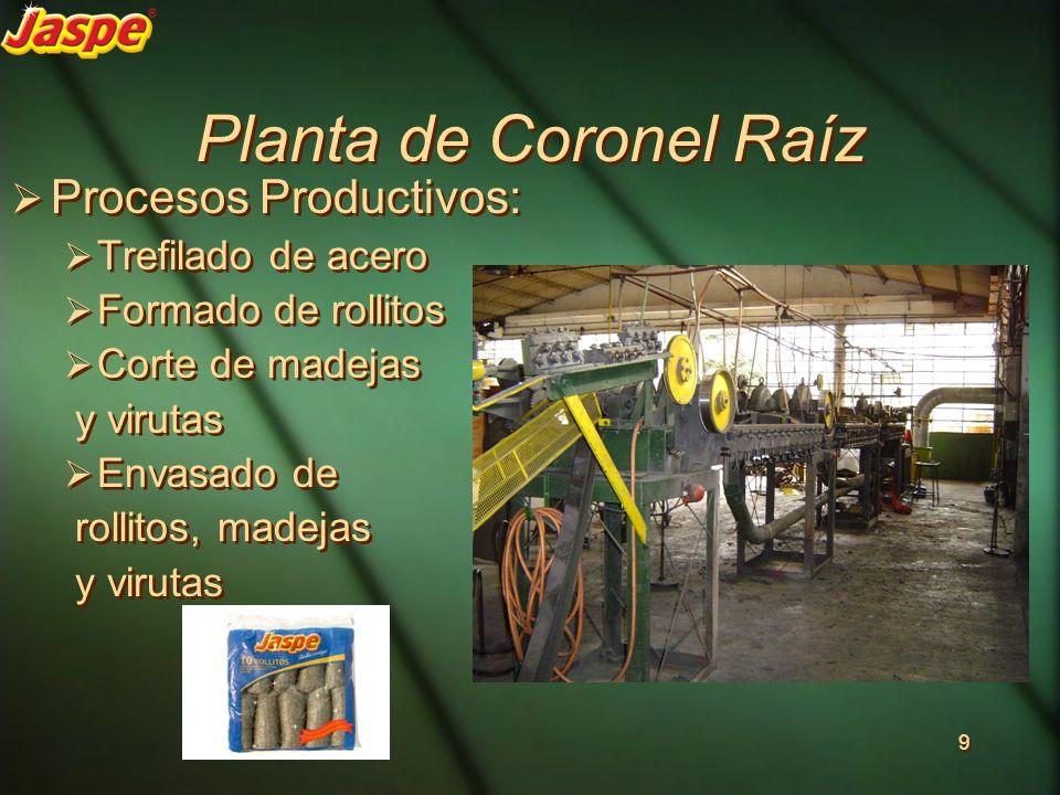 Planta de Coronel Raíz Procesos Productivos: Trefilado de acero