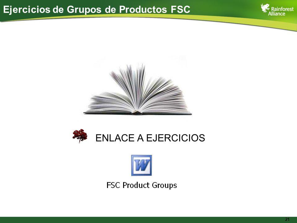 Ejercicios de Grupos de Productos FSC