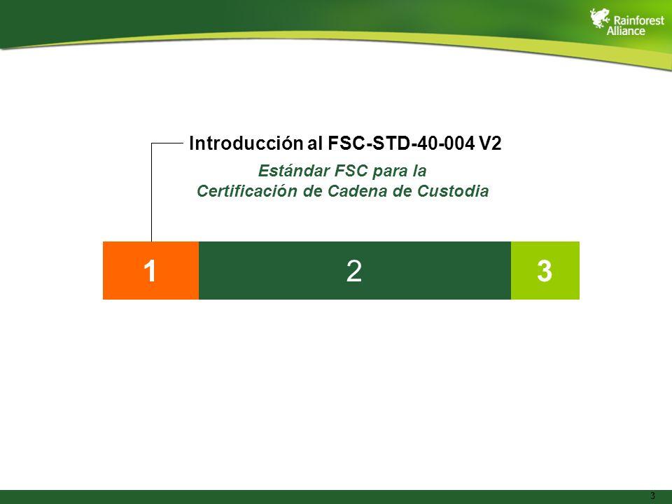Estándar FSC para la Certificación de Cadena de Custodia