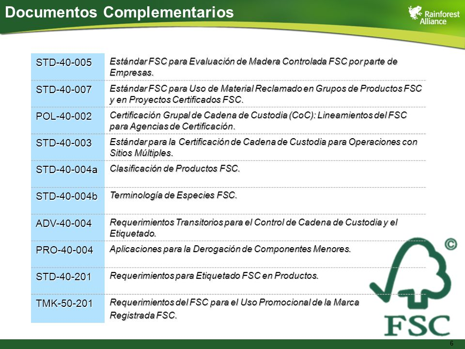 Documentos Complementarios