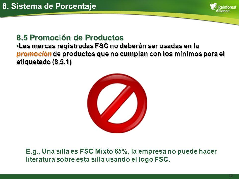 8.5 Promoción de Productos