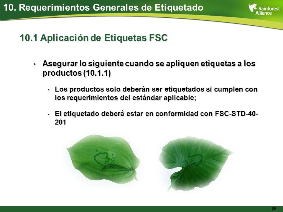 10. Requerimientos Generales de Etiquetado