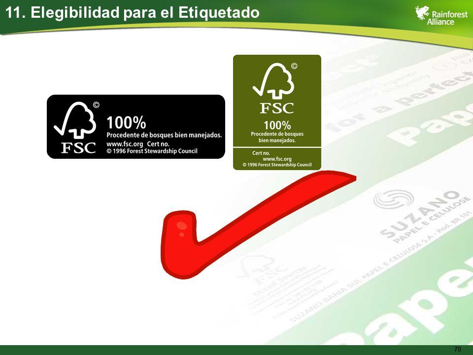 11. Elegibilidad para el Etiquetado
