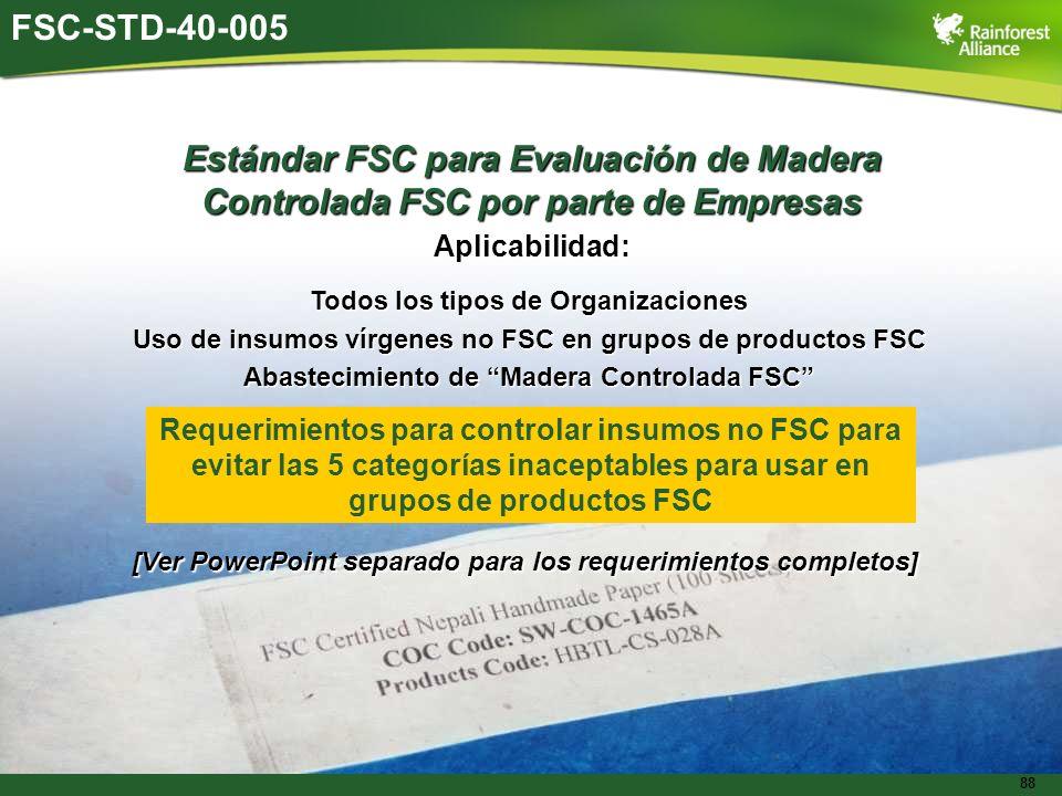 Estándar FSC para Evaluación de Madera
