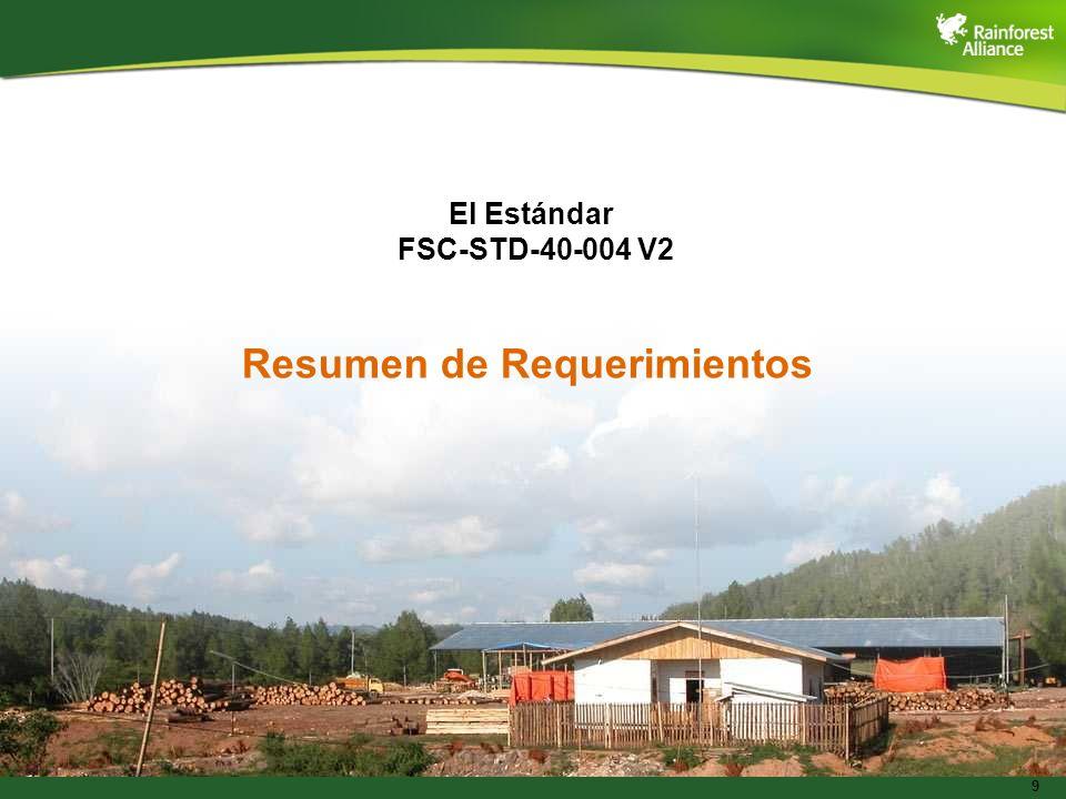El Estándar FSC-STD-40-004 V2
