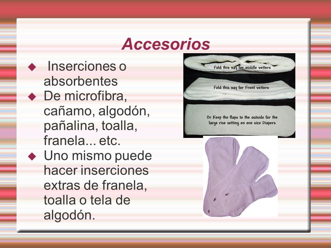 Accesorios Inserciones o absorbentes