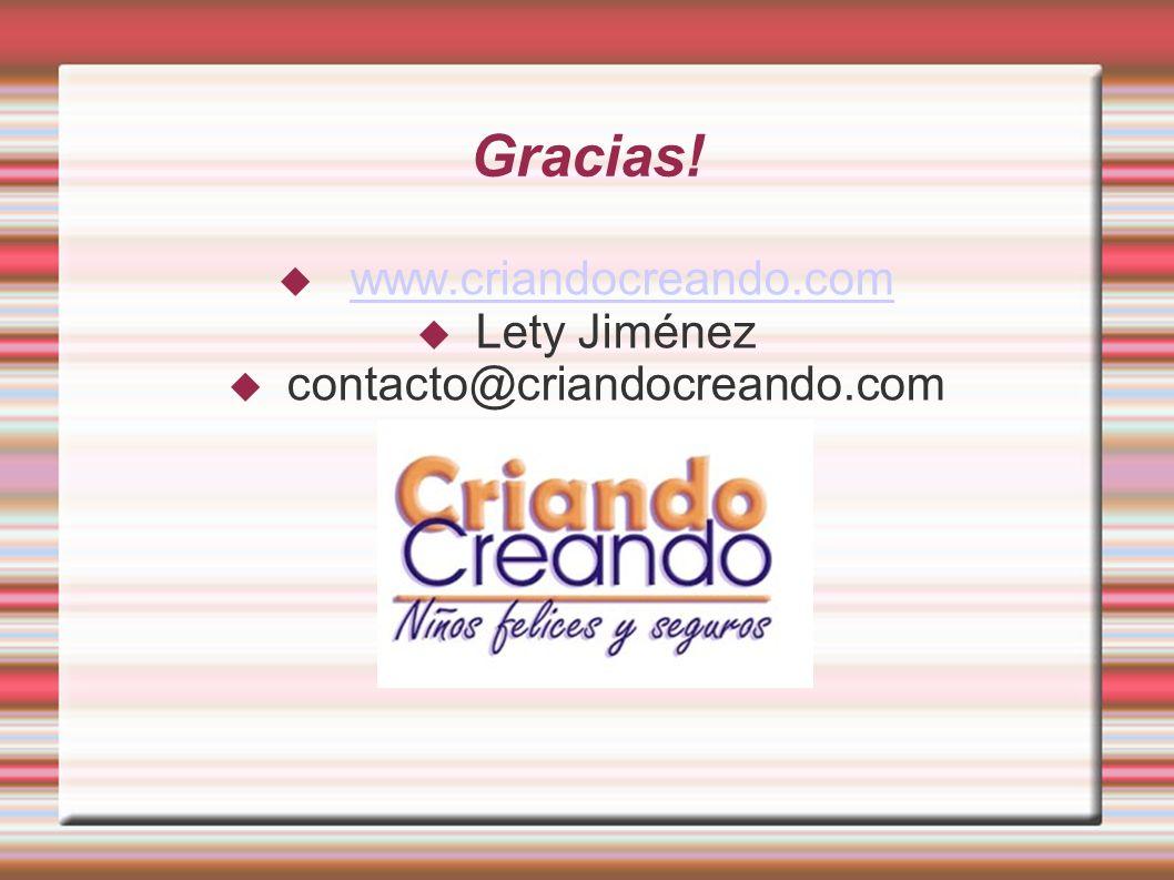 Gracias! www.criandocreando.com Lety Jiménez