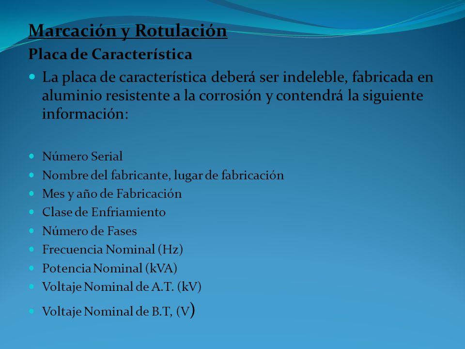 Marcación y Rotulación