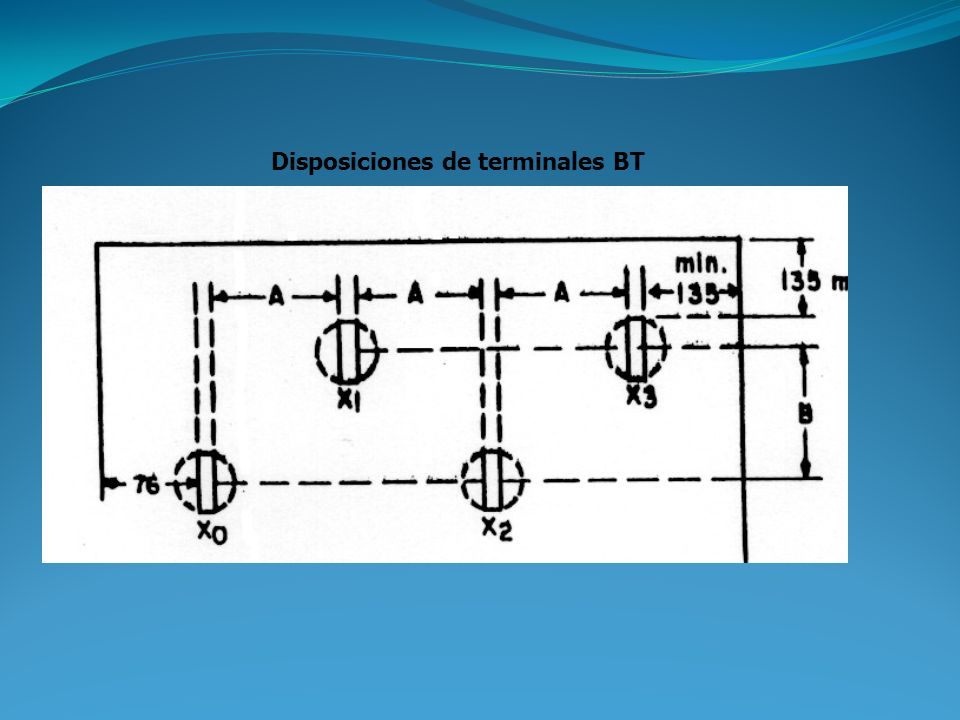 Disposiciones de terminales BT