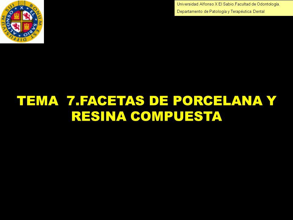 TEMA 7.FACETAS DE PORCELANA Y RESINA COMPUESTA