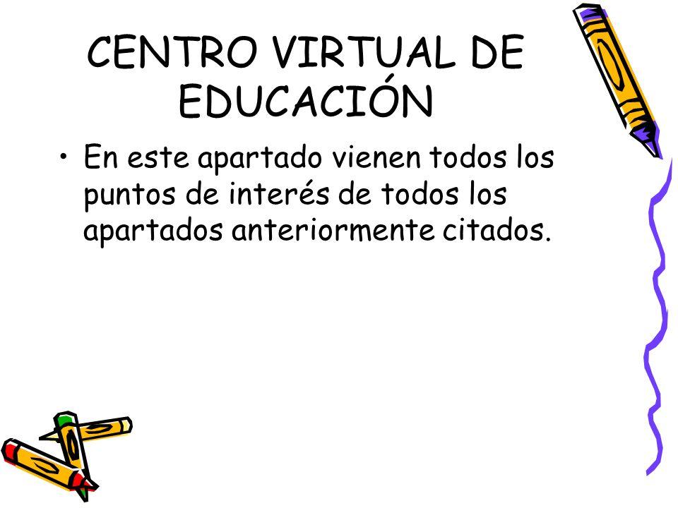 CENTRO VIRTUAL DE EDUCACIÓN