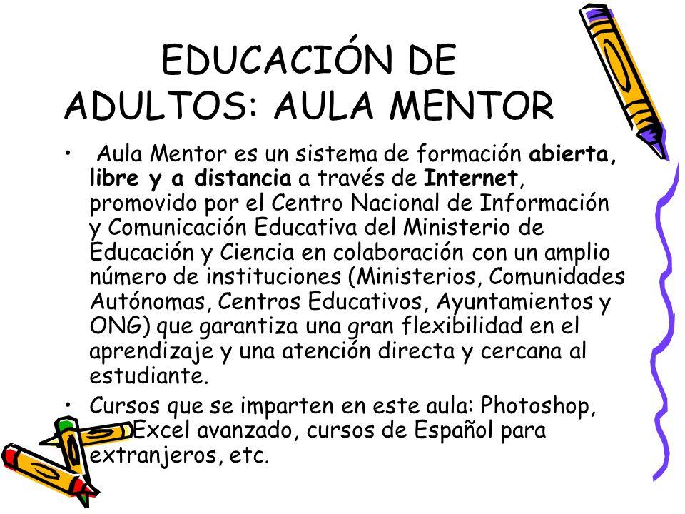 EDUCACIÓN DE ADULTOS: AULA MENTOR