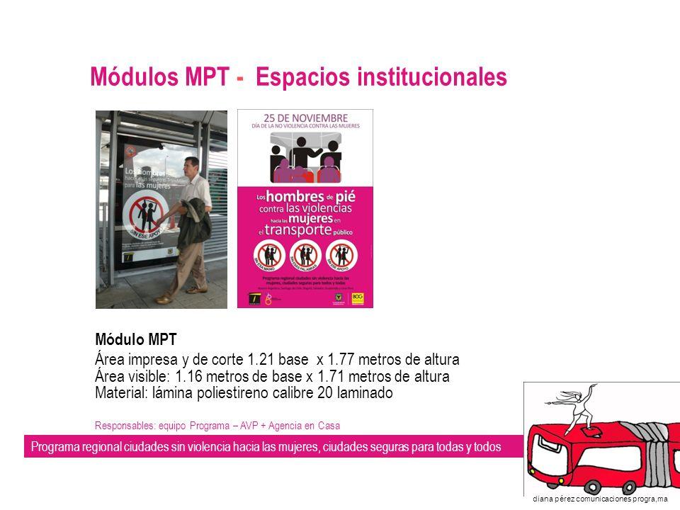 Módulos MPT - Espacios institucionales