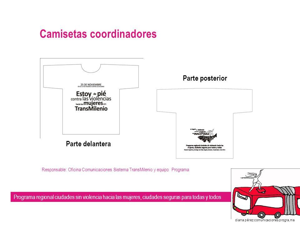 Camisetas coordinadores