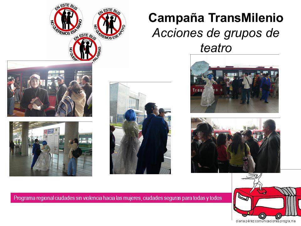 Campaña TransMilenio Acciones de grupos de teatro