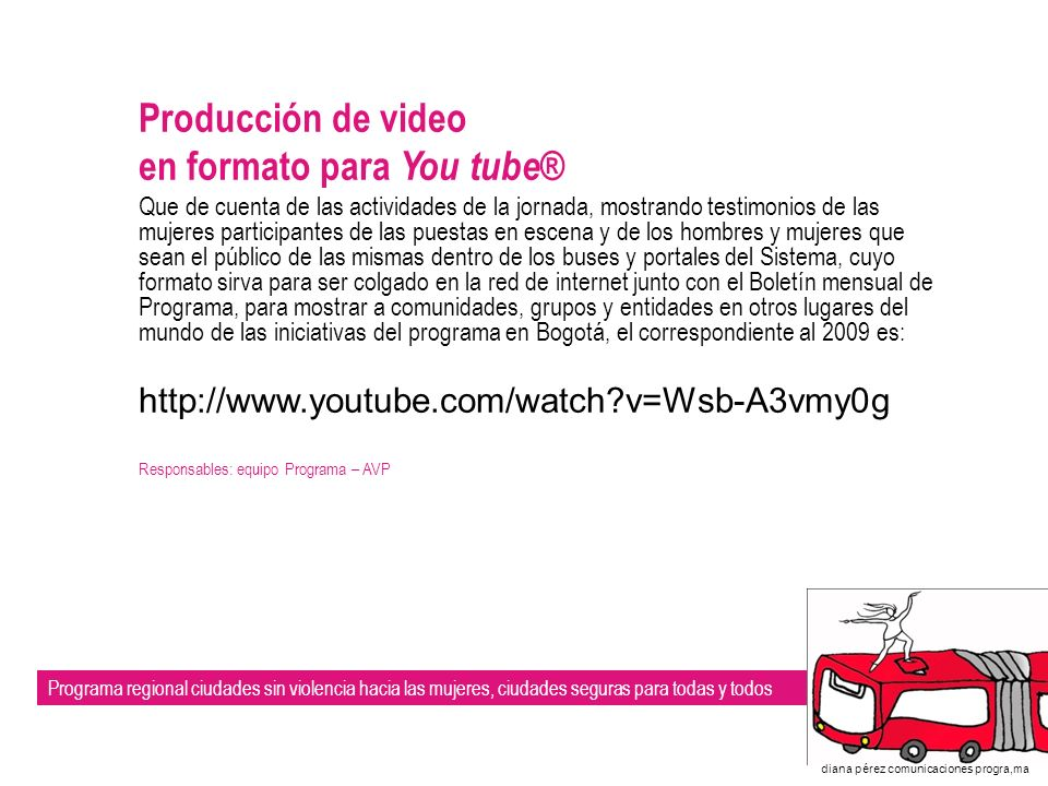 en formato para You tube®