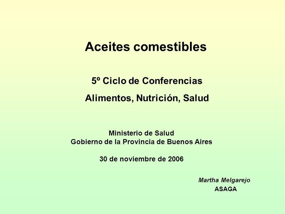 Aceites comestibles 5º Ciclo de Conferencias