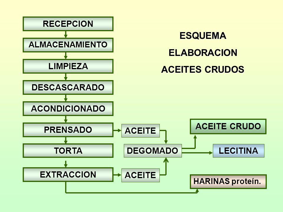 ESQUEMA ELABORACION ACEITES CRUDOS