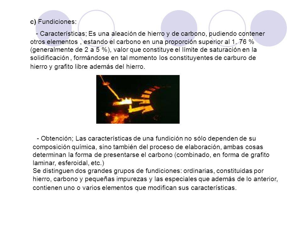 c) Fundiciones: