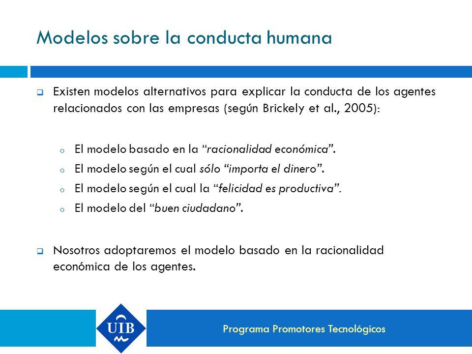 Modelos sobre la conducta humana