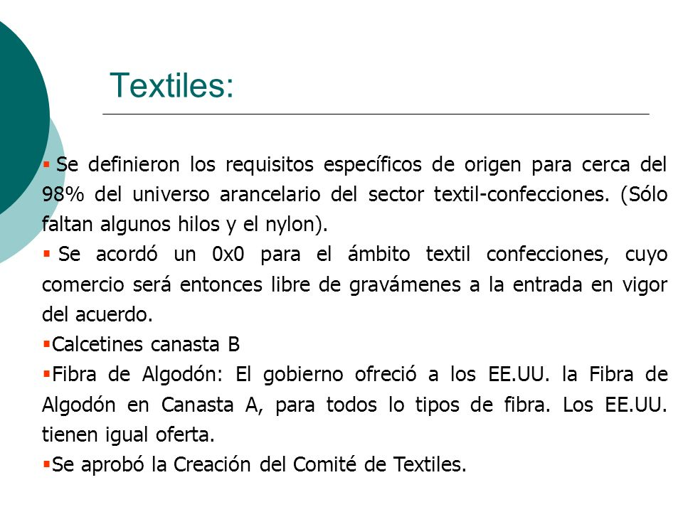 Textiles: