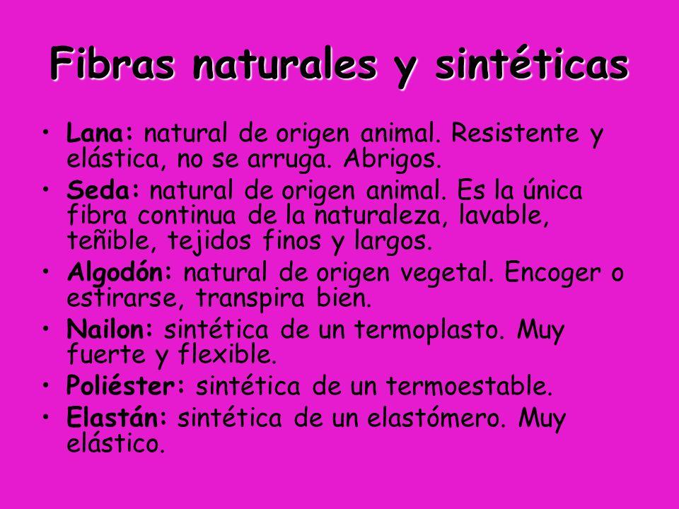Fibras naturales y sintéticas