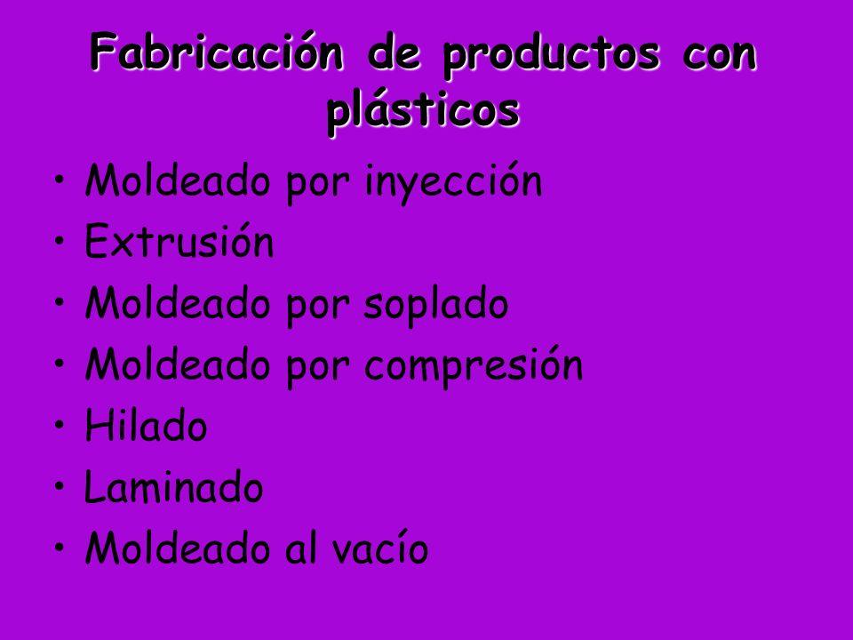 Fabricación de productos con plásticos