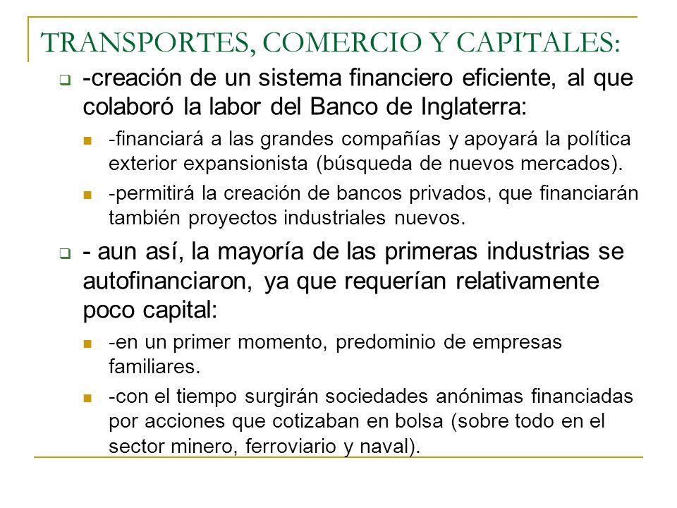 TRANSPORTES, COMERCIO Y CAPITALES:
