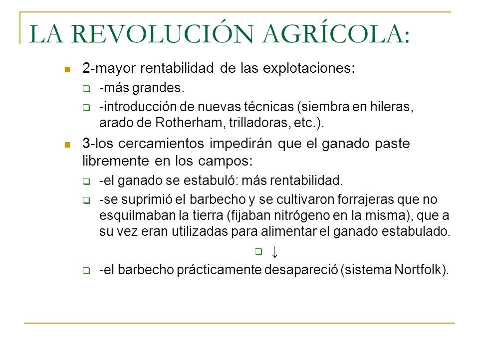 LA REVOLUCIÓN AGRÍCOLA: