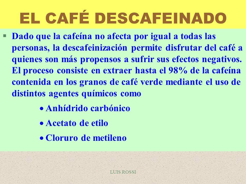 EL CAFÉ DESCAFEINADO