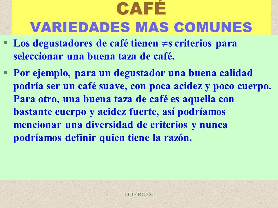 CAFÉ VARIEDADES MAS COMUNES