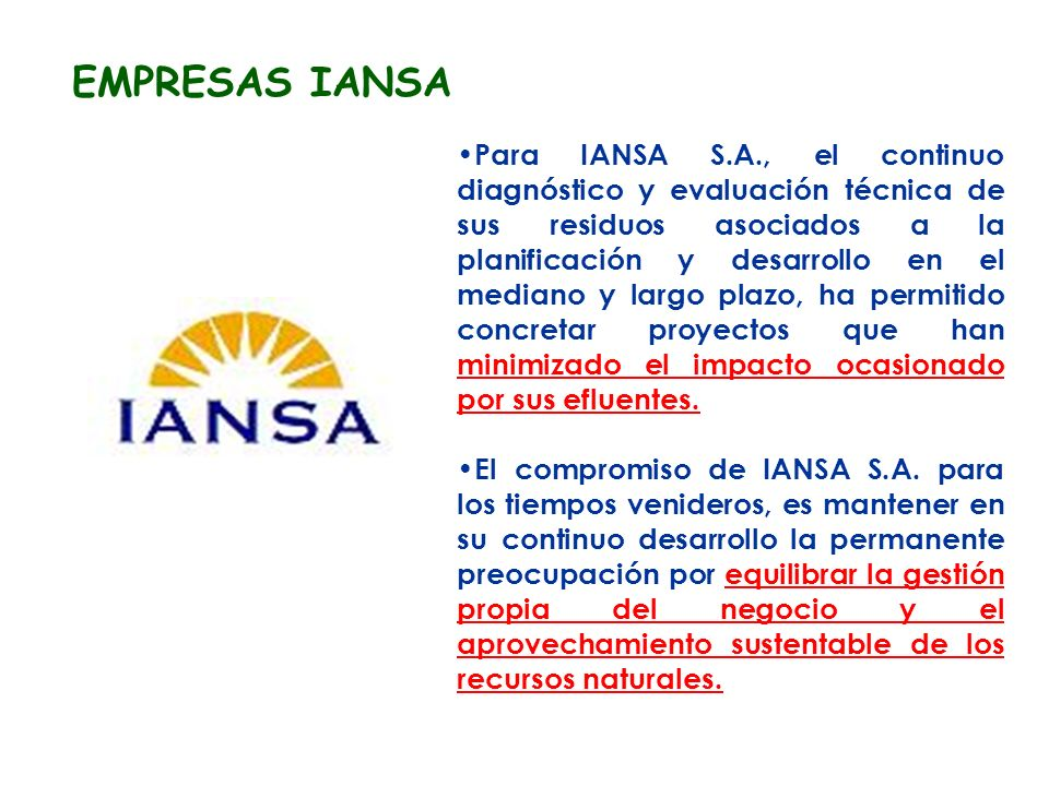 EMPRESAS IANSA