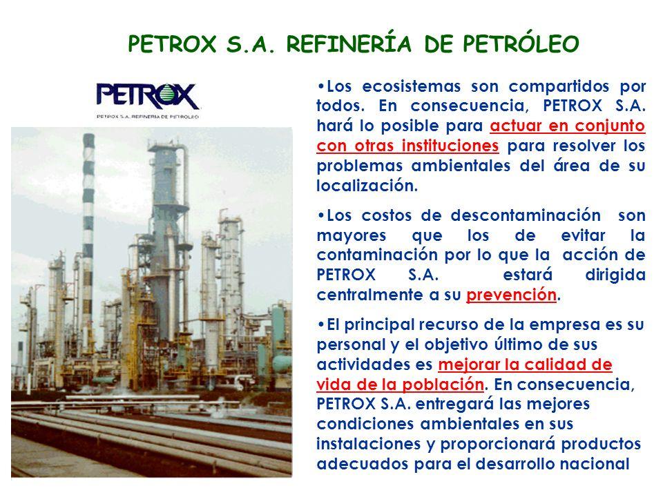 PETROX S.A. REFINERÍA DE PETRÓLEO