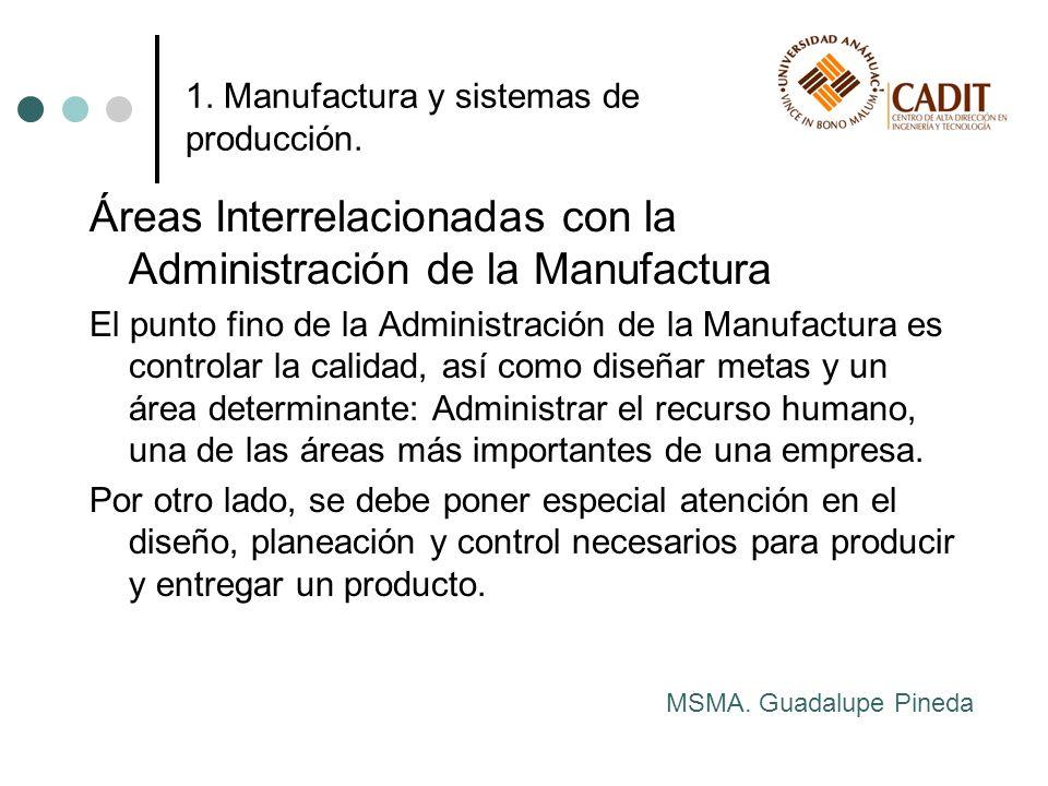 1. Manufactura y sistemas de producción.