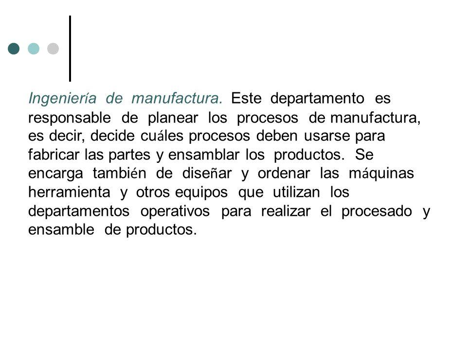 Ingeniería de manufactura