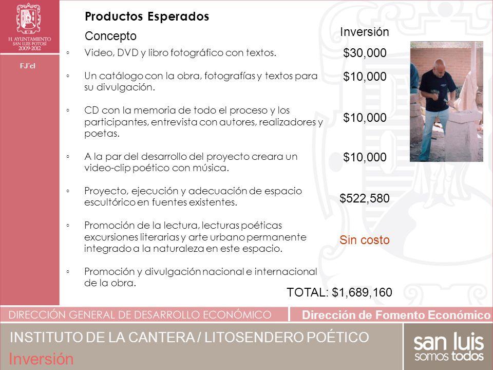 Inversión INSTITUTO DE LA CANTERA / LITOSENDERO POÉTICO