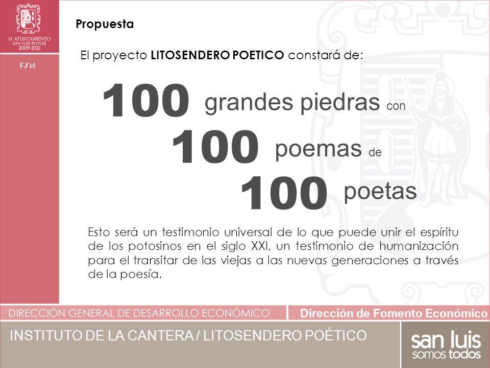 100 grandes piedras con poemas de poetas