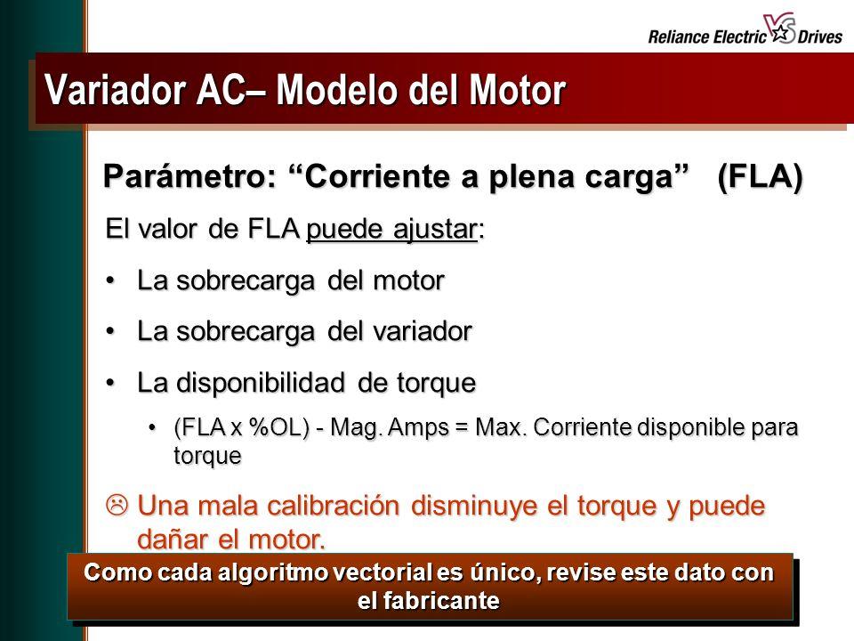 Variador AC– Modelo del Motor