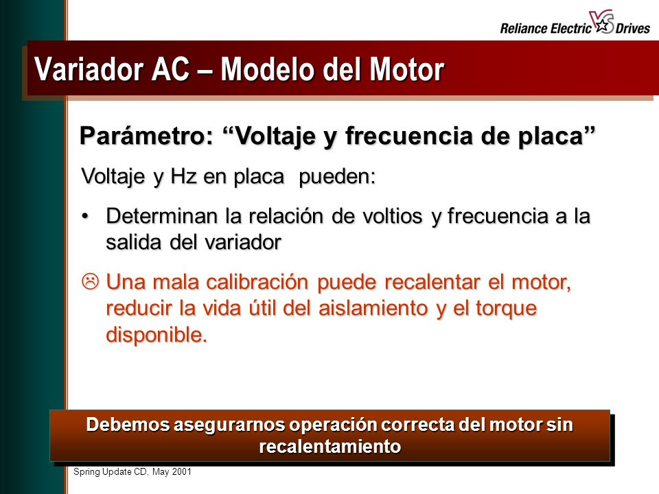 Variador AC – Modelo del Motor