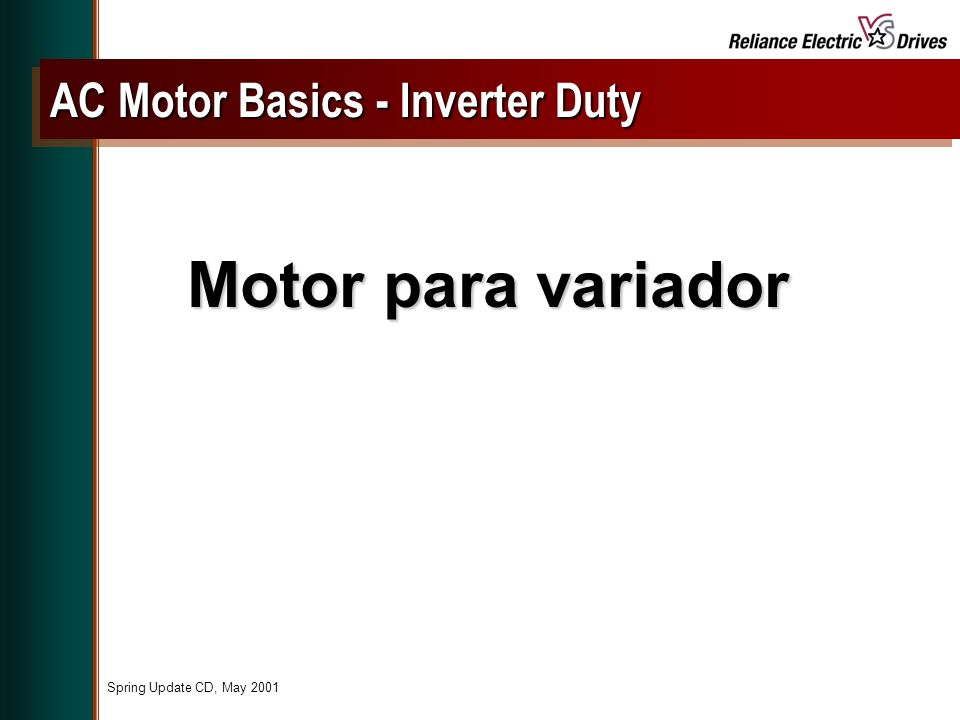 AC Motor Basics - Inverter Duty