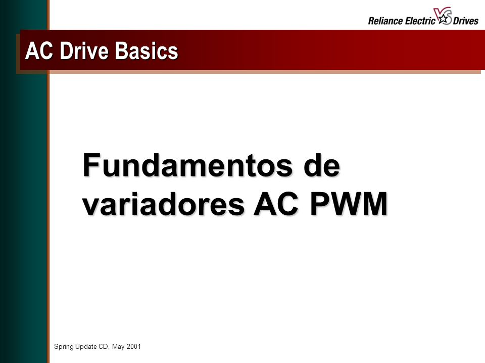 Fundamentos de variadores AC PWM