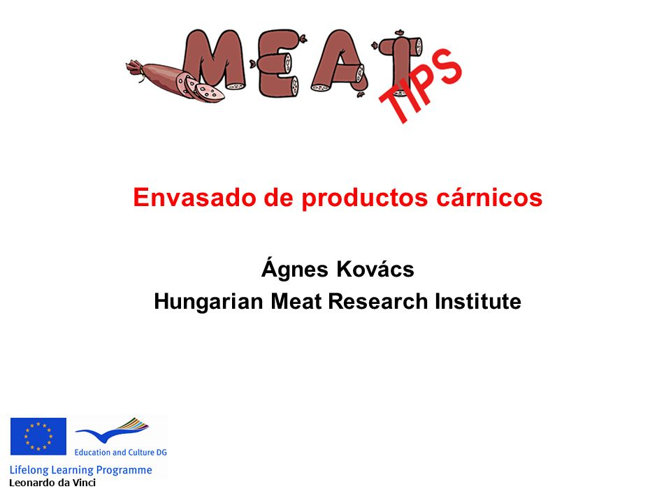Envasado de productos cárnicos Hungarian Meat Research Institute