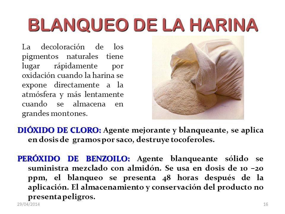 BLANQUEO DE LA HARINA