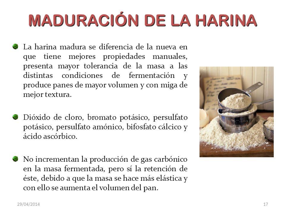 MADURACIÓN DE LA HARINA