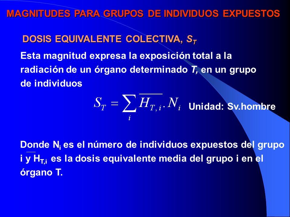 MAGNITUDES PARA GRUPOS DE INDIVIDUOS EXPUESTOS