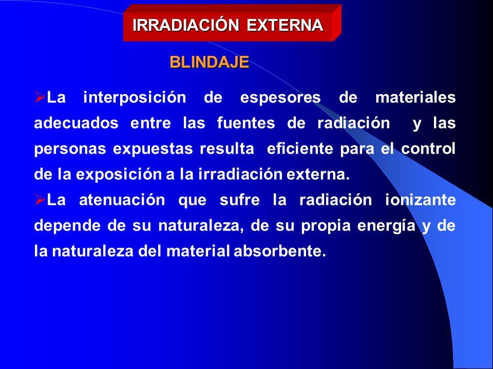 IRRADIACIÓN EXTERNA BLINDAJE.