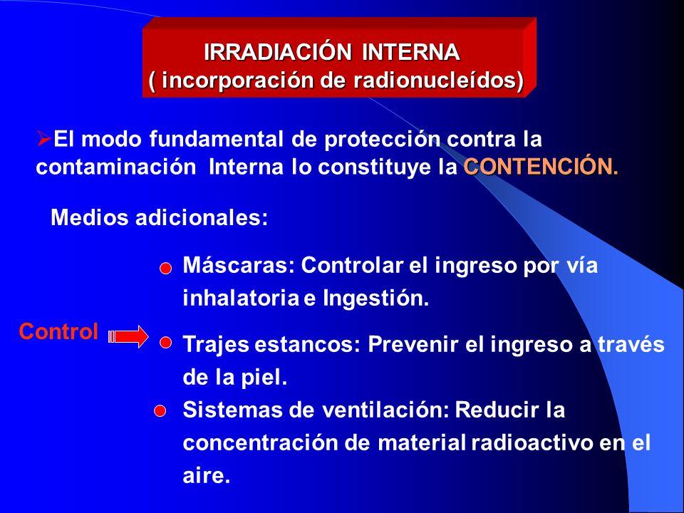 ( incorporación de radionucleídos)