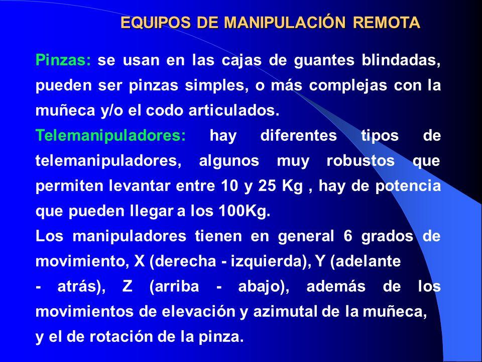 EQUIPOS DE MANIPULACIÓN REMOTA