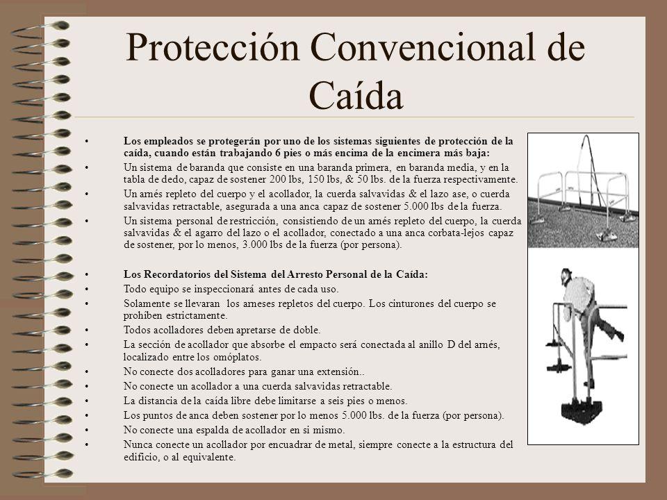 Protección Convencional de Caída